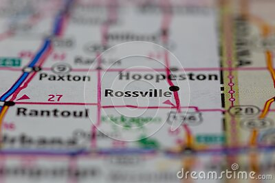 05-04-2021 Portsmouth, Hampshire, UK, Rossville Illinois Shown on a Geography map or road map