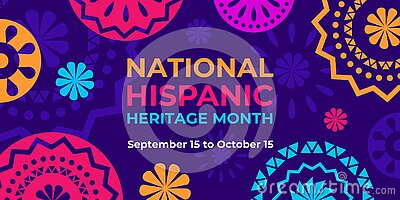 Hispanic heritage month. Vector web banner, poster, card for social media, networks. Greeting with national Hispanic heritage