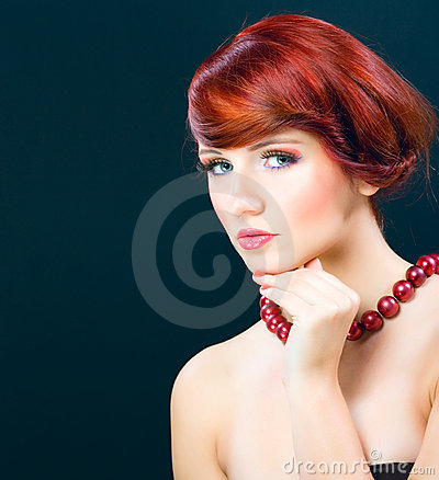 Portraiture of beautiful young female model woman