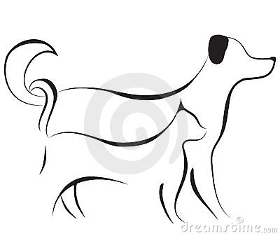 and dog sketch vector rh stockphotos ro free clipart of dogs and cats free clipart raining cats and dogs