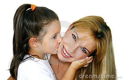 Girl and mommy
