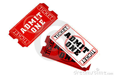 Admit One Tickets - Clipping Path