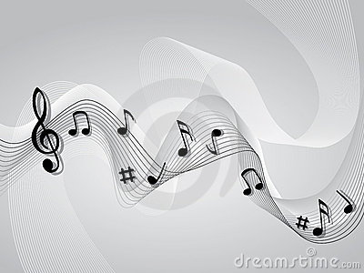Abstract music music theme background
