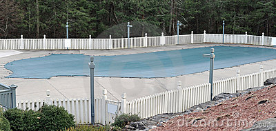 Pool Covered with Tarp