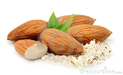 Almonds and grated almonds