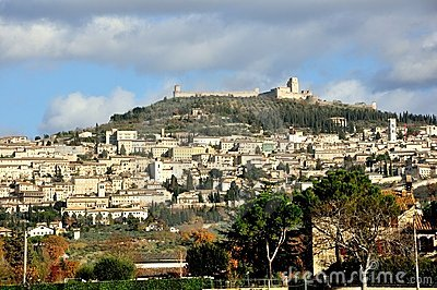 Assisi city , Italy