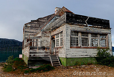 Old Abandoned haunted house in Greenland