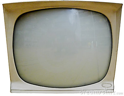 Old Television Screen Isolated