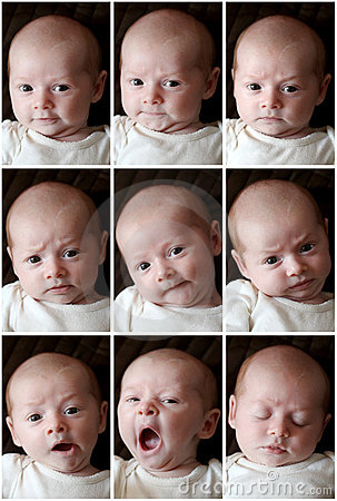Funny faces - different expressions