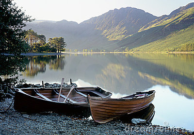 Buttermere rowboats, Lake district