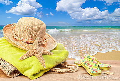 Beach Bag With Sun Hat