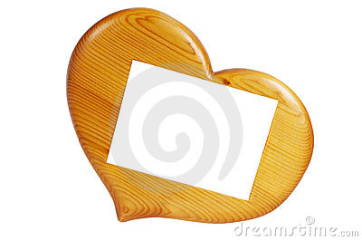 Wooden frame in the form of hearts
