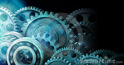Industrial Cogs Gears Banner Background