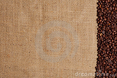 Coffee beans on burlap #2