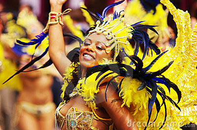 A street dancer at London Notting Hill Carnival