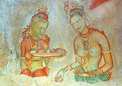 Apsara celestial nymphs - ancient painting