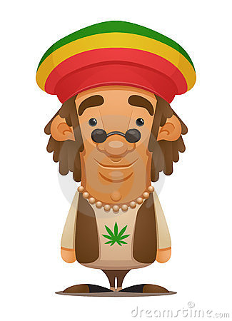 cartoon jamaican man