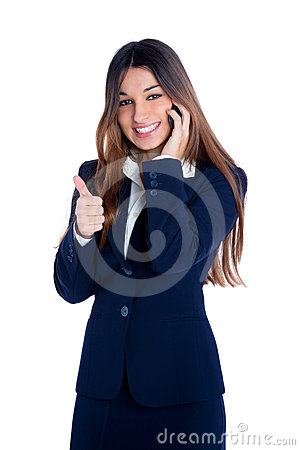 Asian indian business woman talking mobile phone