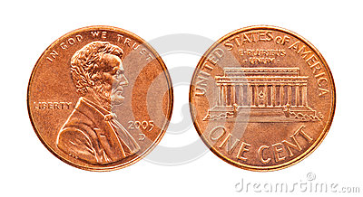 Isolated penny