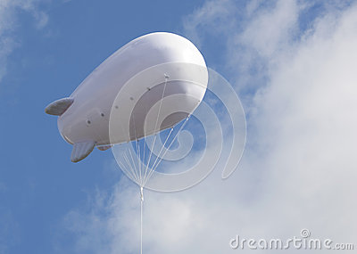 Advertising balloon with free space