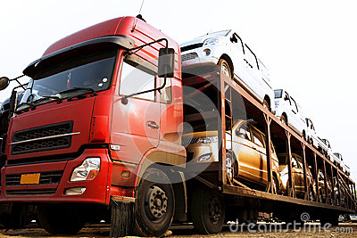 stock image of transport cars