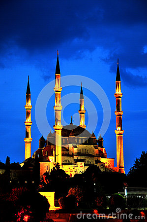 Selimiye Mosque, night, Turkey