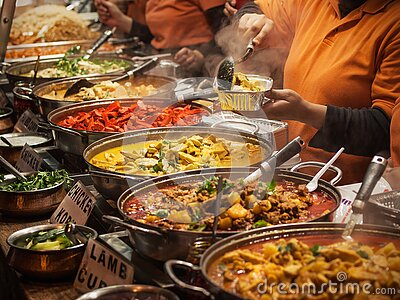 stock image of indian food