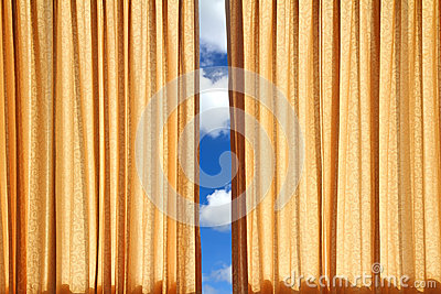 Curtain on edge of a window