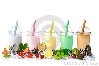 Bubble Tea in a row