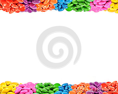 Colorful candy frame