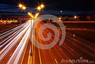 Night movement on motorway