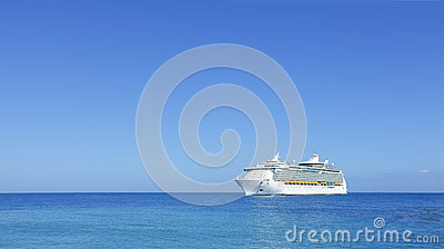 Cruise ship liner on horizon
