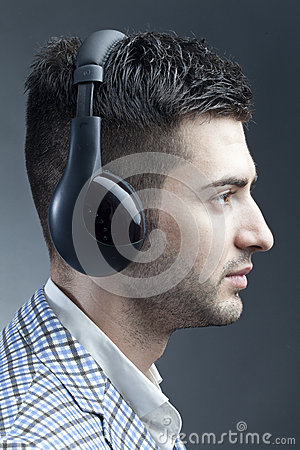 Man with headsets