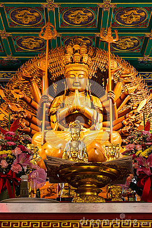 Buddha Showing A Thousand Hands Statue