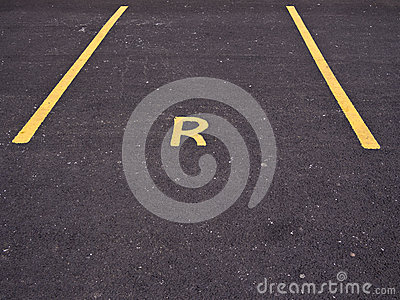 Empty Reserved Car Parking Bay