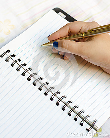 Writing on notepad