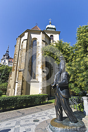 Franz Kafka statue in Prague