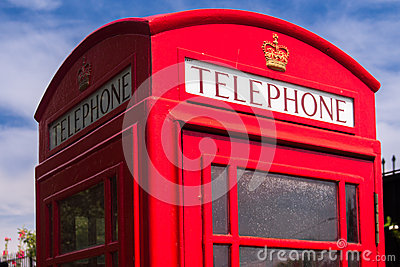 Red english phone box