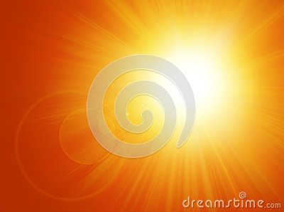 Sun and Flare Background