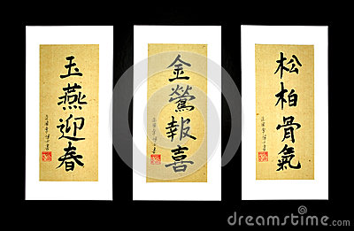 Vietnamese Caligraphy on Rice Paper