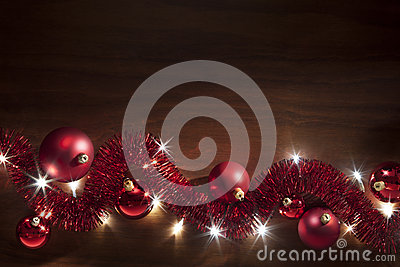 Christmas Tinsel Lights Background