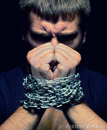 Chained man