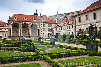 Baroque wallenstein garden at mala strana