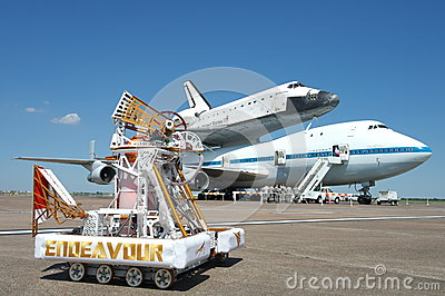 Endeavour with Endeavour OV-105