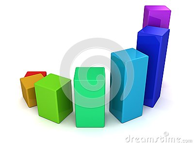 Shiny colorful business bar growing up graph