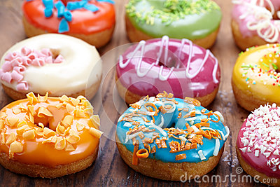 Fresh baked donuts