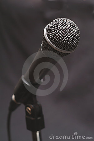 stock image of vocal microphone 1