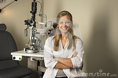 Female Eye Doctor in Examintaion Room