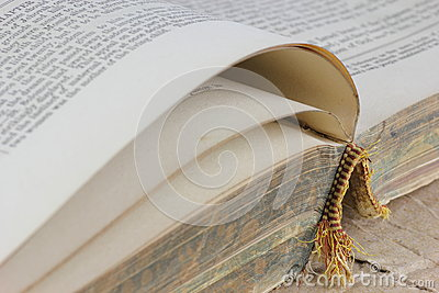Open old book detail