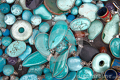 Colorful Turquoise Semi Precious Gemstones Jewelry
